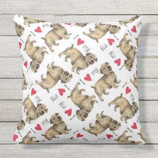 I Love my Glen of Imaal Terrier Cushions