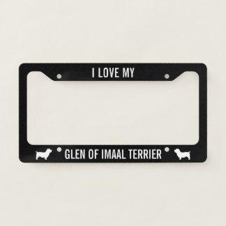 I Love My Glen of Imaal Terrier - Custom Licence Plate Frame