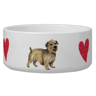 I Love my Glen of Imaal Terrier Dog Water Bowls
