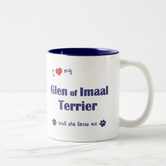 I Love My Glen of Imaal Terrier (Female Dog) Two-Tone Coffee Mug