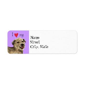 I Love my Glen of Imaal Terrier Return Address Label