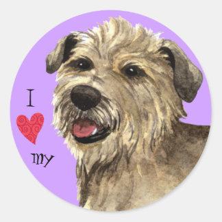 I Love my Glen of Imaal Terrier Round Sticker