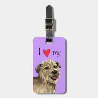 I Love my Glen of Imaal Terrier Tags For Bags