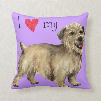 I Love my Glen of Imaal Terrier Throw Pillow