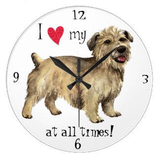 I Love my Glen of Imaal Terrier Wall Clocks