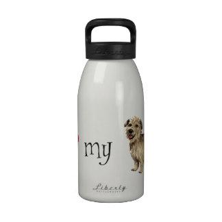 I Love my Glen of Imaal Terrier Water Bottles
