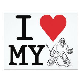 I Love My Goalie Party Invitations (hockey)