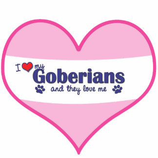I Love My Goberians (Multiple Dogs) Photo Sculpture Decoration