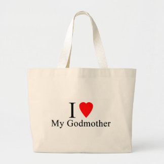 I love my godmother jumbo tote bag
