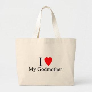 I love my godmother large tote bag