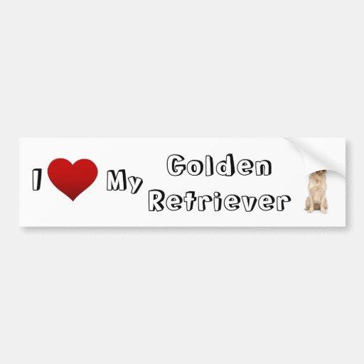 i love my golden (2) bumper sticker