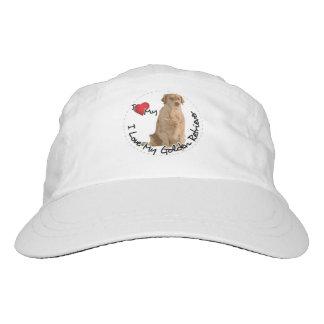 I Love My Golden Retriever Dog Hat