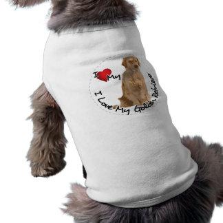 I Love My Golden Retriever Dog Shirt
