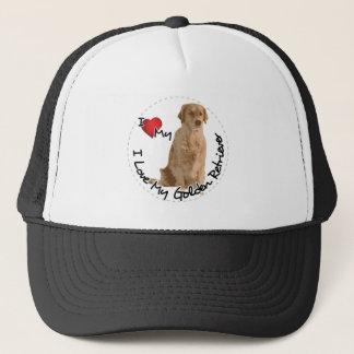 I Love My Golden Retriever Dog Trucker Hat
