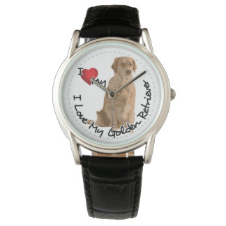 I Love My Golden Retriever Dog Watch