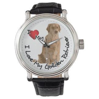 I Love My Golden Retriever Dog Watches
