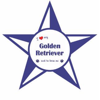 I Love My Golden Retriever (Male Dog) Photo Sculpture Decoration