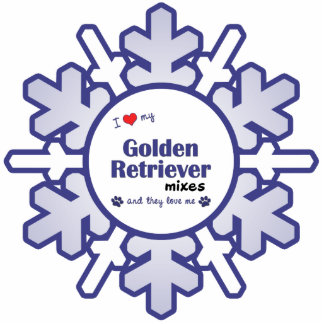I Love My Golden Retriever Mixes (Multiple Dogs) Photo Sculpture Decoration