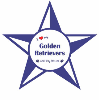 I Love My Golden Retrievers (Multiple Dogs) Photo Sculpture Decoration