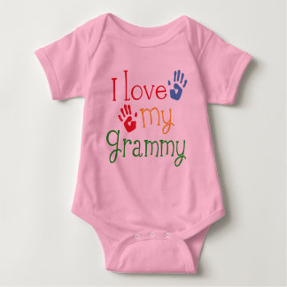 I Love My Grammy Handprints Baby Bodysuit