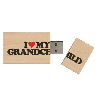I LOVE MY GRANDCHILD WOOD USB 2.0 FLASH DRIVE