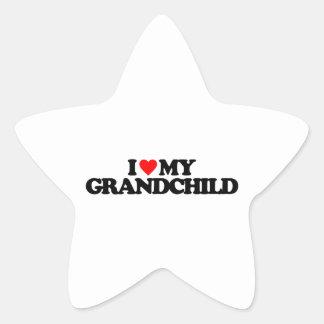 I LOVE MY GRANDCHILD STAR STICKERS