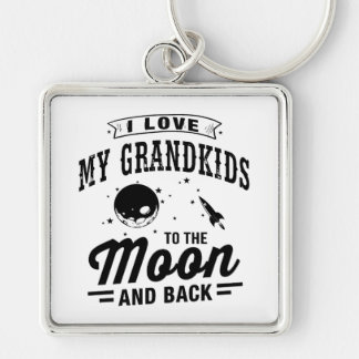 I Love My Grandkids To The Moon And Back Key Ring