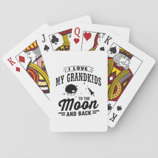 I Love My Grandkids To The Moon And Back Playing Cards
