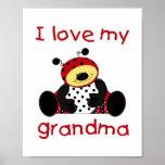 I love my grandma (boy ladybug) poster