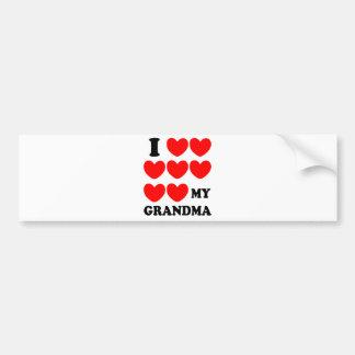 I Love My Grandma Bumper Stickers