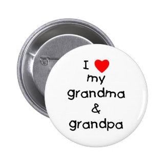 I love my grandma & grandpa 6 cm round badge
