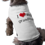 I love my grandma sleeveless dog shirt