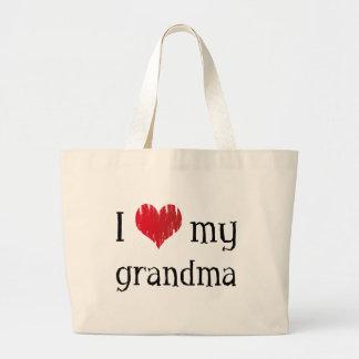I love my grandma jumbo tote bag