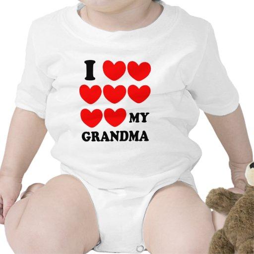 I Love My Grandma Bodysuits
