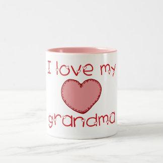 I love my grandma Two-Tone mug
