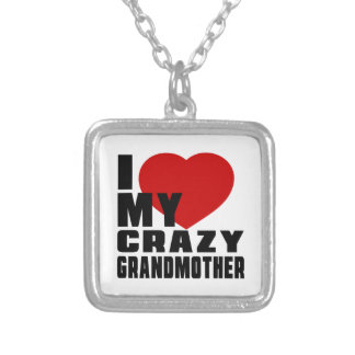 I LOVE MY GRANDMOTHER SQUARE PENDANT NECKLACE