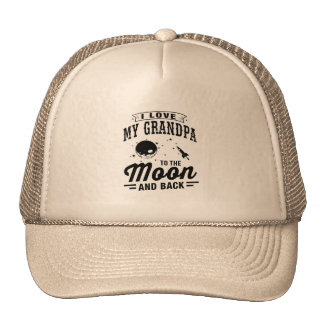 I Love My Grandpa To The Moon And Back Cap