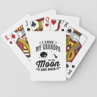 I Love My Grandpa To The Moon And Back Playing Cards