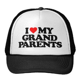 I LOVE MY GRANDPARENTS HATS