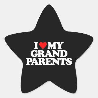 I LOVE MY GRANDPARENTS STAR STICKERS