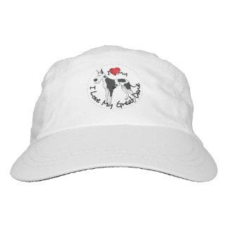 I Love My Great Dane Dog Hat