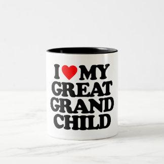 I LOVE MY GREAT GRANDCHILD COFFEE MUGS
