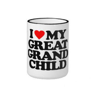 I LOVE MY GREAT GRANDCHILD COFFEE MUG