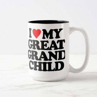 I LOVE MY GREAT GRANDCHILD MUGS