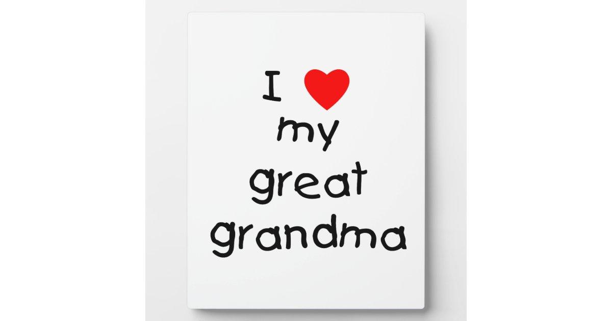 i love my great grandma photo plaque zazzle