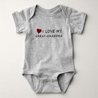 I Love My Great-Grandma with Heart Baby Bodysuit