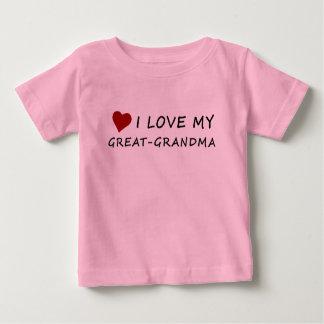 I Love My Great-Grandma with Heart Baby T-Shirt