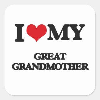 I love my Great Grandmother Square Sticker