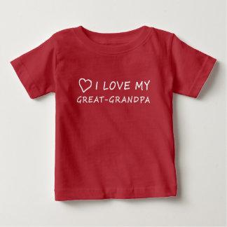 I Love My Great-Grandpa with Heart Baby T-Shirt