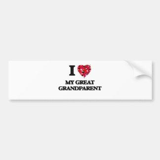 I Love My Great Grandparent Bumper Sticker